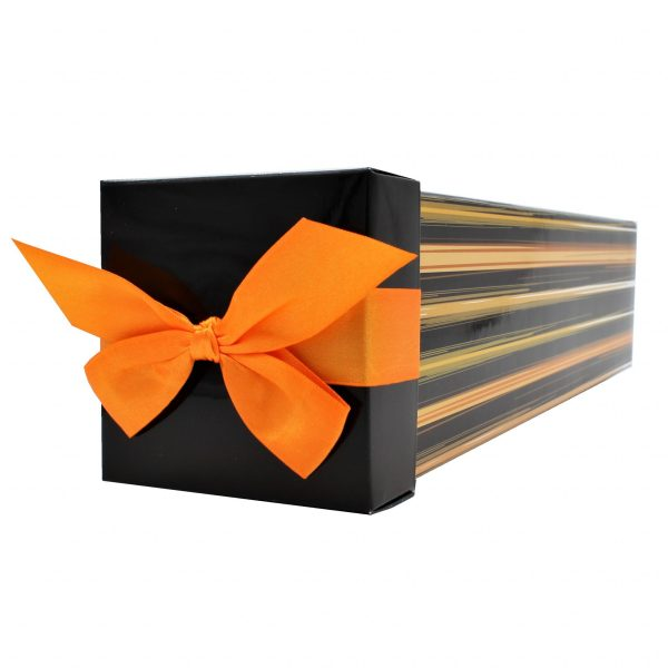 Cutie băuturi dungi portocalii 34x8x8 cm