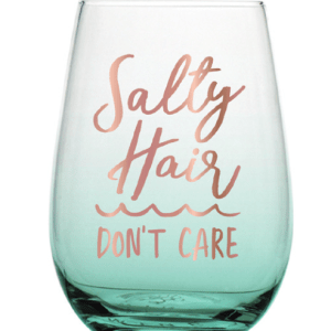 Slant Wine Glass Mermaid Beach Lover Gift for Wine Lover Gift for Mermaid Lover
