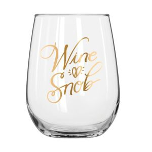 wine snob gold-foiled glassware barware partyware gift gifting ideas