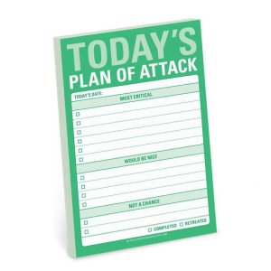 today's plan of attack note notes note taking organizing daily planner planning priorities present presents gift gifts gifting
