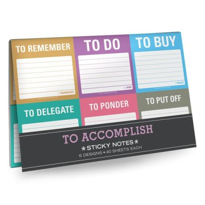 For the go-getters, the To Accomplish Sticky Notes Packet will help them conquer the world.