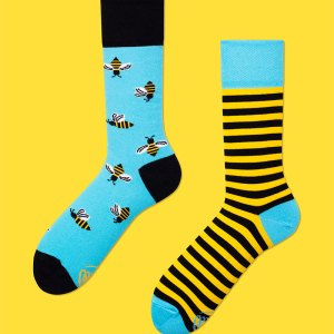 A bee-lightful gift for someone that's been buzzing in your thoughts. A comfy and unique present, perfect for your college roommate you haven't seen in a while to honor the many nights in studying or unwinding from a long week. dress socks work socks bee's bee keeping strips