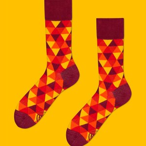 These flame color themed socks are a HOT commodity that make the perfect present for your groomsmen, or for your boyfriend as an anniversary present. Comfortable and premium quality, sure to be their new favorite pair. orange and yellow socks dress socks men's fashion gifts for him gifting ideas
