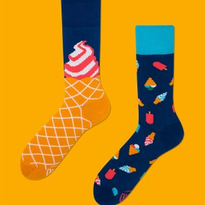 Ending every meal with ice cream is a non-negotiable for your sister, and these socks are the perfect way to say you're thinking of her, or a great thank you for letting you crash on her couch for a week. ice cream socks dress socks gifts for him father's day gifts