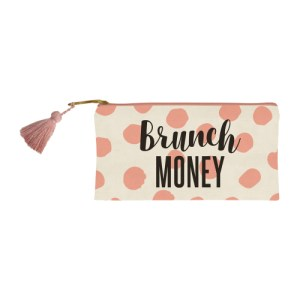 brunch money canvas bag coin purse present presents gift gifting ideas happy birthday brunch daydrinking drinking drinks drinker shots party girl