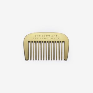 long and short beard comb gold golden present presents gift gifts gifting ideas happy birthday gifts for him father's day