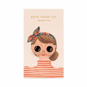 Your darling coworker makes your job feel like home, and is a constant ray of sunshine. Grab this gorgeous glossy enamel pin that reminds her of her radiating optimism. Makes the perfect thank you gift or token to say Happy Birthday. Rifle Paper Co. enamel pin gifts for her mother's day gift