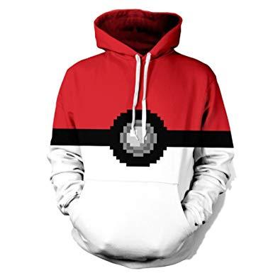chicoco poke ball hooded sweatshirt unisex