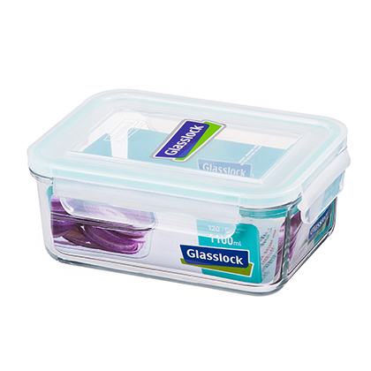 【Glasslock】長方形強化玻璃微波保鮮盒1100ml - 客志達企業禮品採購