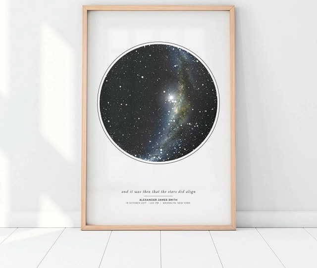 Romantic Gifts For Men Star Map