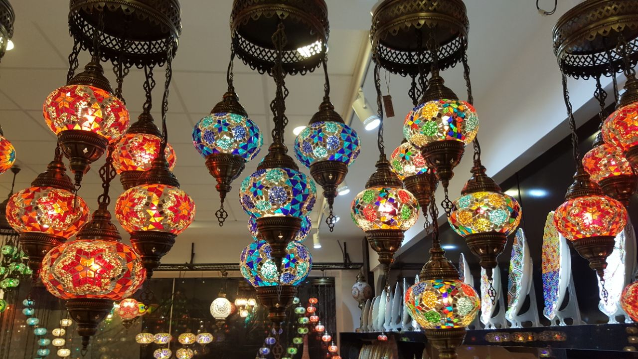 Turkish mosaic lamp is one of the traditional means …