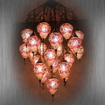 All Glass Mosaic Lamp