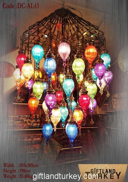 Colorful Pyrex Lamp