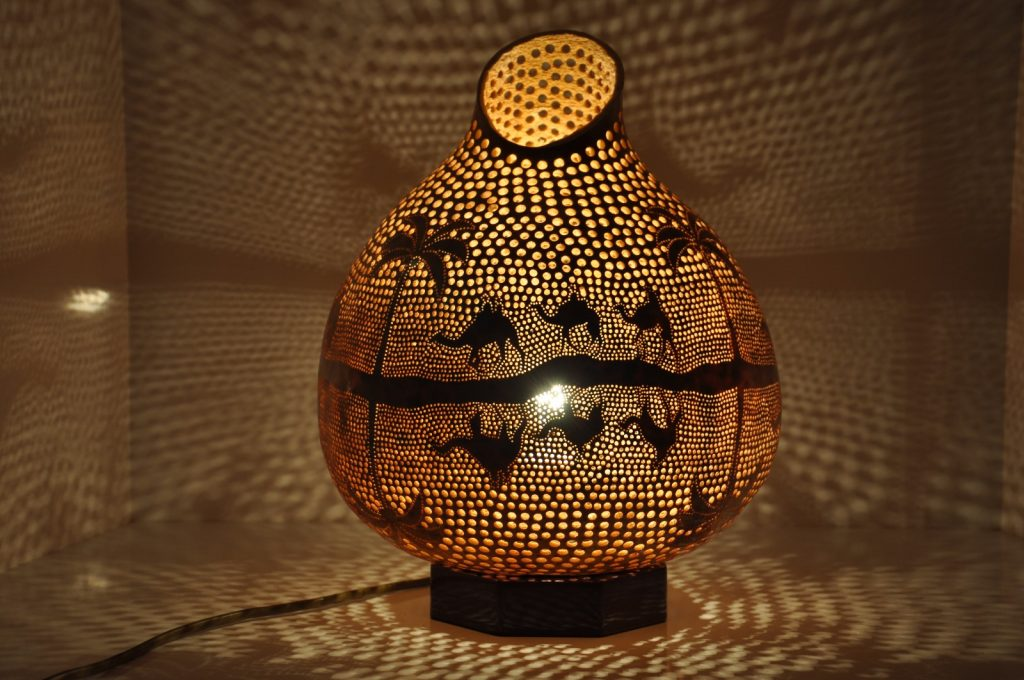 Mosaic arabic lamp
