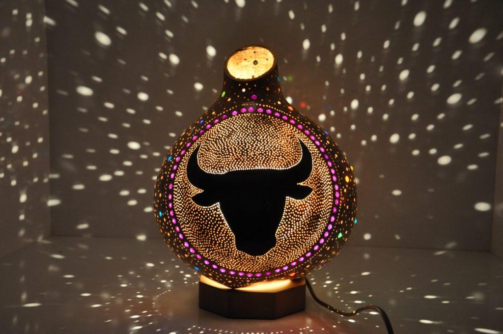 TAURUS MOSAIC LAMP