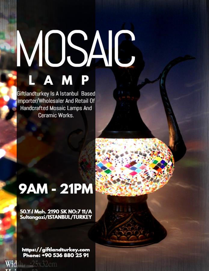 Where to buy turkish mosaic lamp