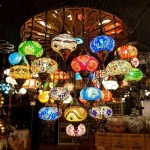 Color mosaic lamps