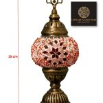 Table Mosaic Glass Lamp Size 1