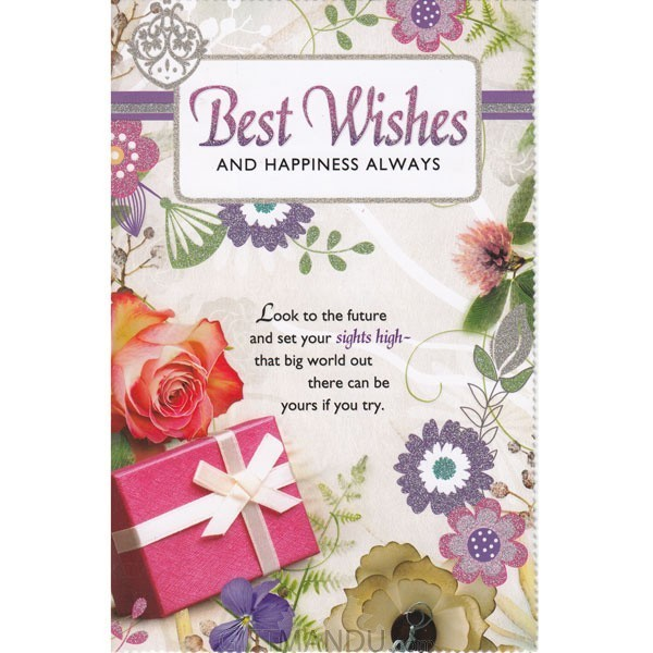 Best Wishes And Happiness Always Greeting Card GC 5262