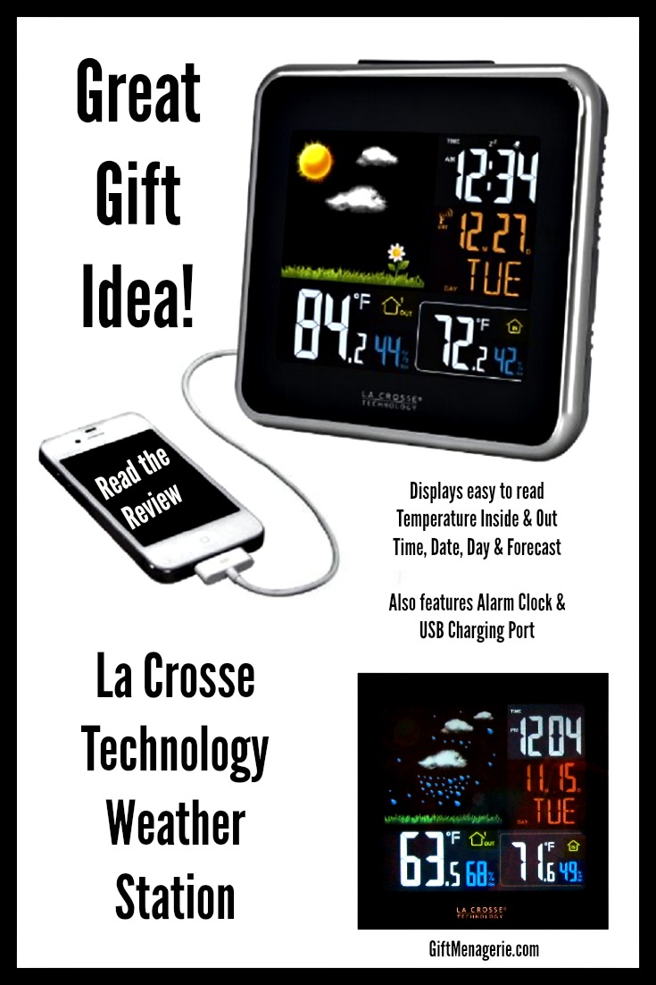 la crosse technology weather station indoor outdoor thermometer gift menagerie gift menagerie. Black Bedroom Furniture Sets. Home Design Ideas