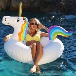 Unicorn Inflatable Raft Float for Swimming Pool, Lake, Rivers & Ocean