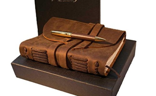 Leather Journal Diary Gift Set For Women Gift Ninjas