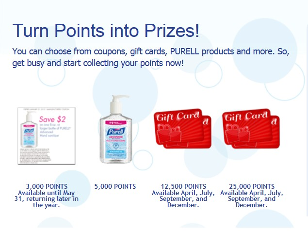 Free Gift Cards, Coupons and More from Purell Loyalty Program