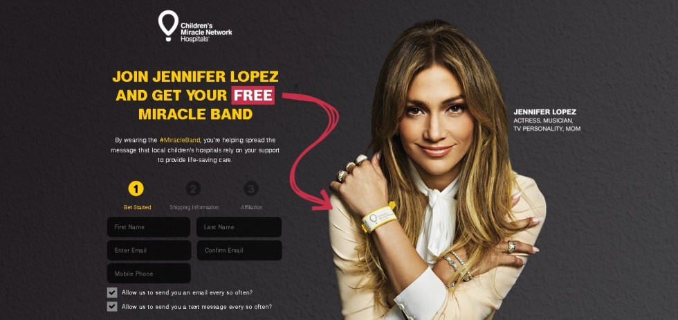 Join Jennifer Lopez & Get your Free Miracle Band