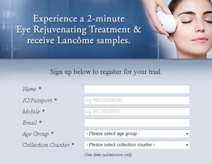 Experience Eye Rejuvenating Treatment & Receive Free Samples at Lancome Malaysia1