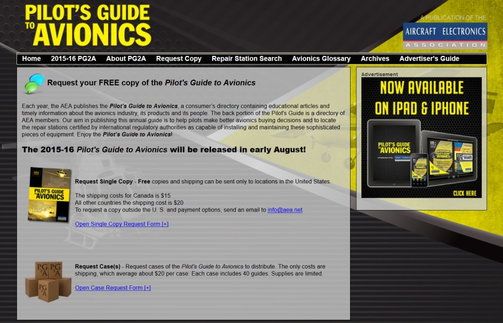 FREE Copy of the Pilot's Guide to Avionics Form