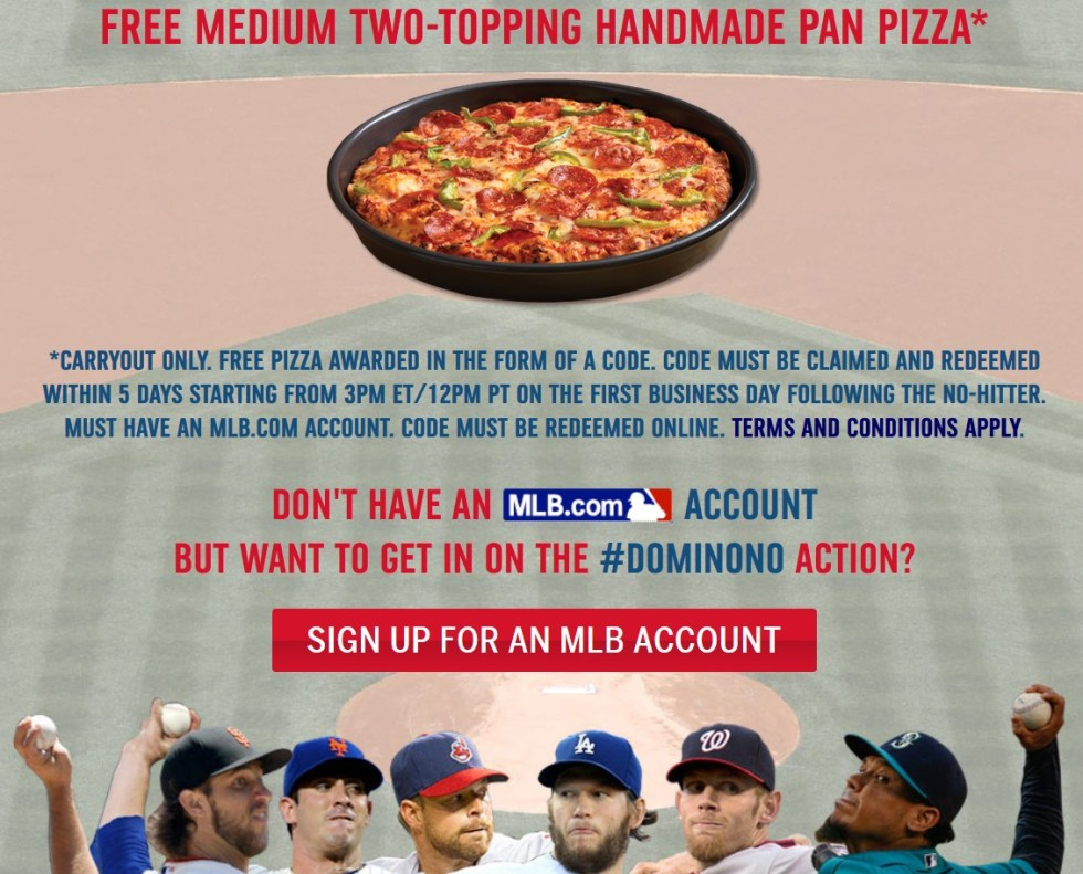 Free Domino's Medium Two-Topping Handmade Pan Pizza1