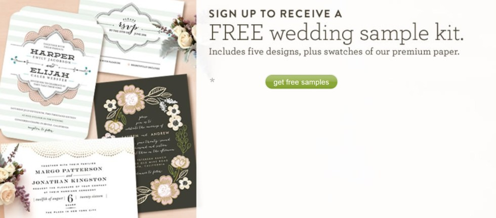 Start your wedding planning with a FREE sample kit at Minted Form