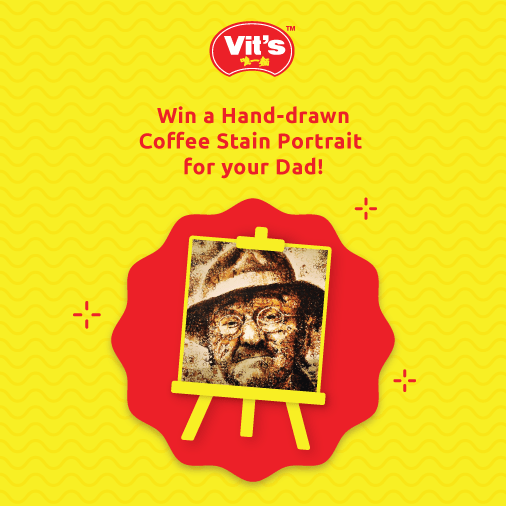 WIN a coffee stain portrait of your Dad at Vit's Malaysia