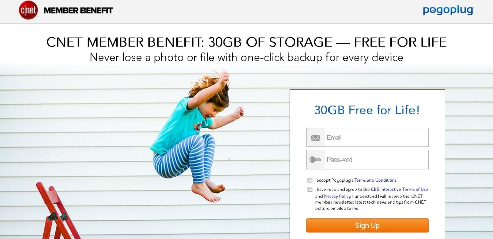 CNET Members Benefit 30GB of Pogoplug Storage- FREE FOR LIFE