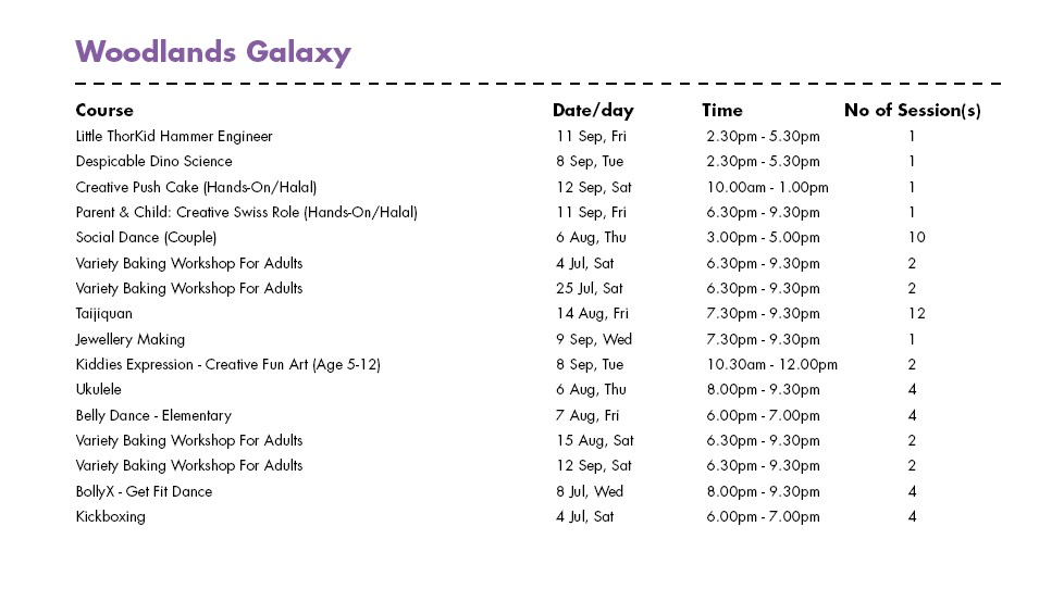 Celebrate SG50 & PA Community Day with Free Courses at Woodlands Galaxy CC Singapore