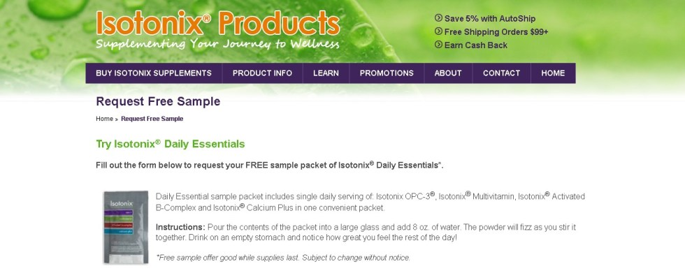 FREE sample packet of Isotonix® Daily Essentials (2)
