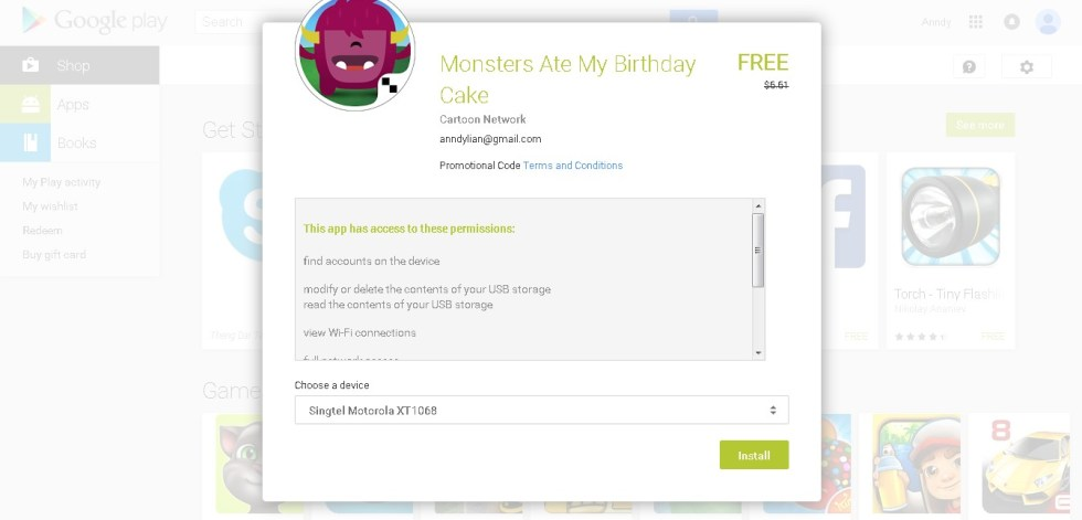 Free Monsters Ate My Birthday Cake Android App 1