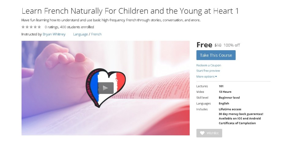 Free Udemy Course on Learn French Naturally For Children and the Young at Heart 1  (2)