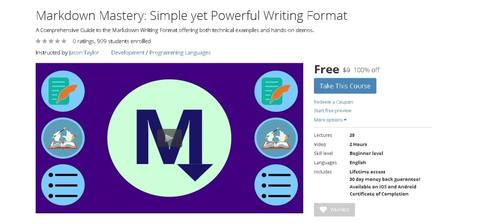 Free Udemy Course on Markdown Mastery Simple yet Powerful Writing Format