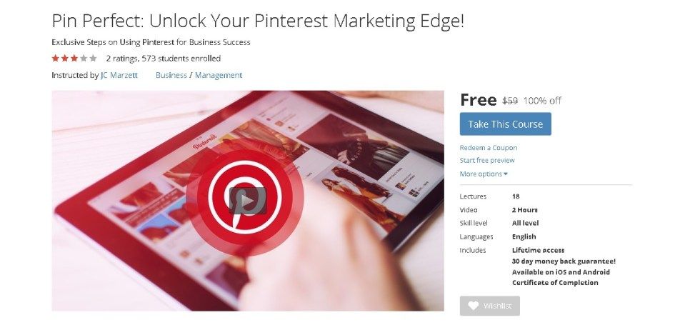 Free Udemy Course on Pin Perfect Unlock Your Pinterest Marketing Edge!