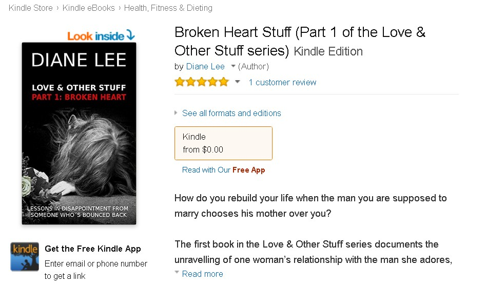 Free eBook at Amazon Broken Heart Stuff (Part 1 of the Love & Other Stuff series)