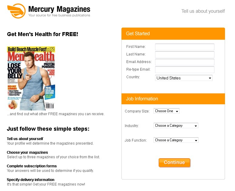 Get Men's Health for FREE at Mercury Magazine