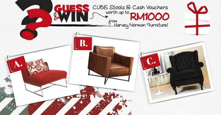 "Harvey Norman ""Furniture Genius"" Trivia contest"