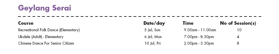 In Celebration of SG50 & PA Community Day Free Courses at Geylang Serai CC Singapore