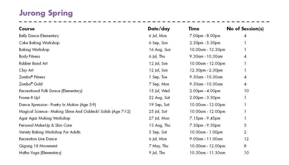 In Celebration of SG50 & PA Community Day Free Courses at Jurong Spring CC Singapore