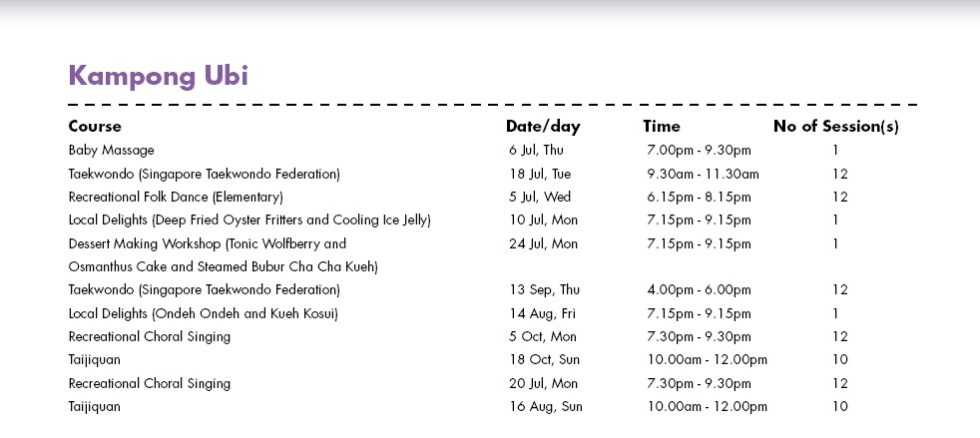 In Celebration of SG50 & PA Community Day Free Courses at Kampong Ubi CC Singapore