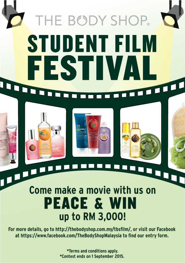 The Body Shop Malaysia Student Film Festival- Win RM3,000 in cash