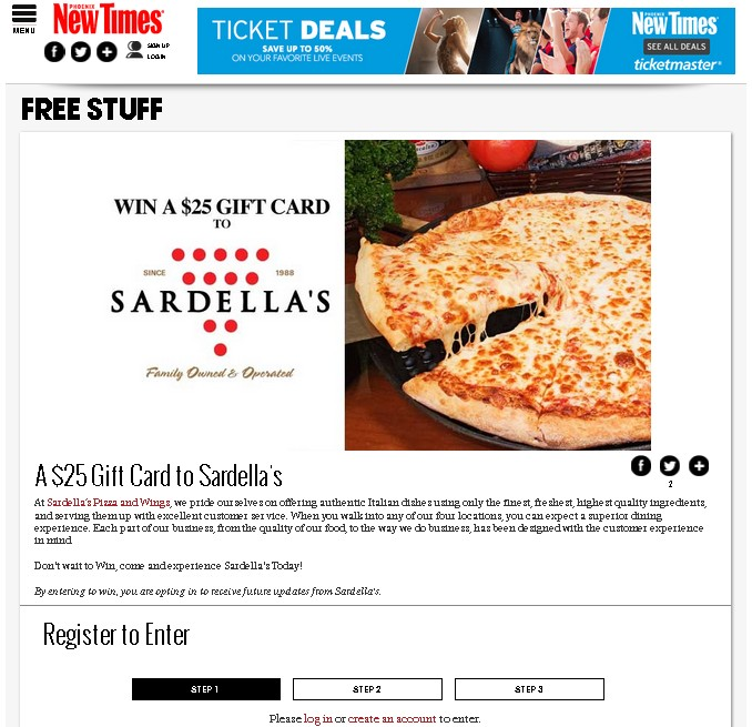 Win $25 Gift Card to Sardella's