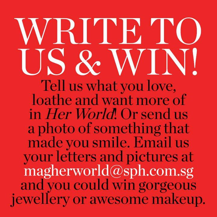 Win Gorgeous Jewellery Or Awesome Makeup at Her World Singapore
