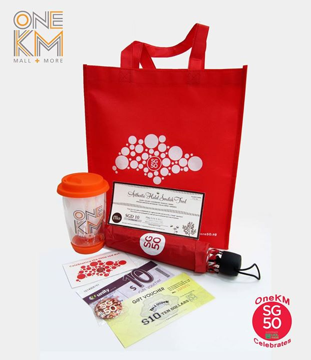Win SG50 Goodie Bag worth more than $50 at OneKM- Mall + More Singapore